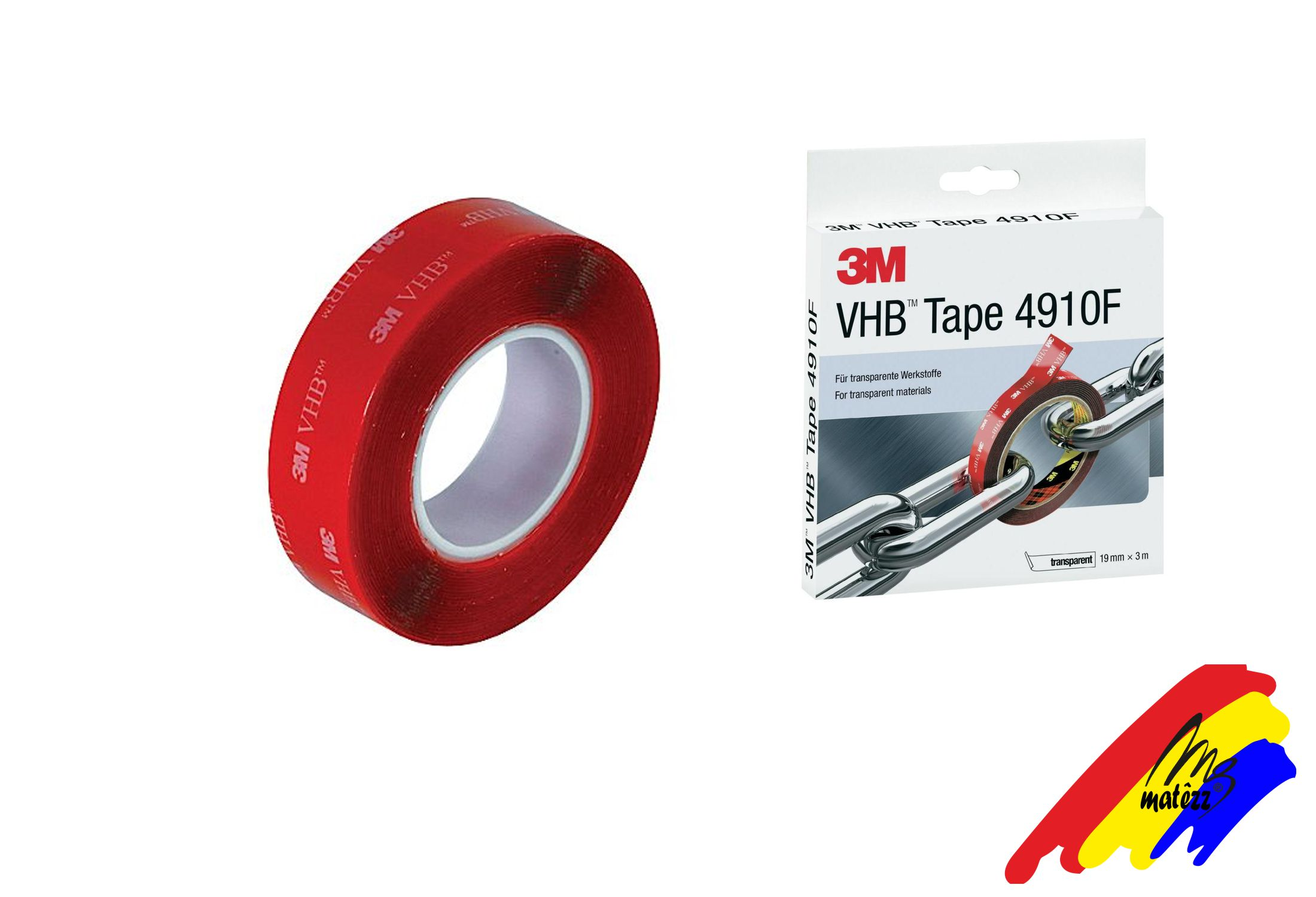 3M Vhb transparente 4910 19mm x 1mt